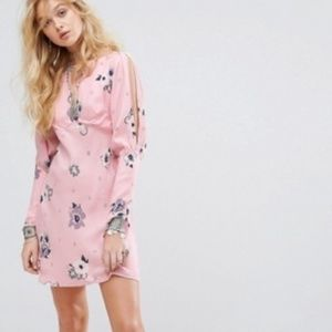 Free People Sunshadows Rosebud Mini Dress